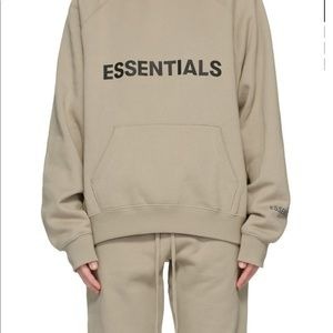 [Tan/Taupe]🖤Essentials Fear of God Hoodies